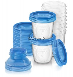 Philip Avent Breast Milk Storage Cups (10X180Ml)