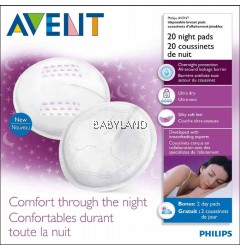 Philip Avent Disposable Breast Pads Night (20Pcs)