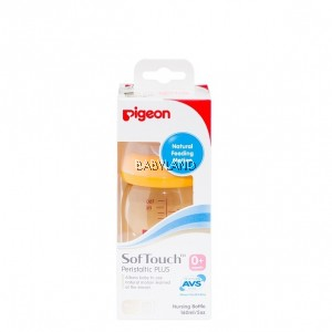 Pigeon SofTouch Wide Neck PPSU Bottle 160ml (0m+)