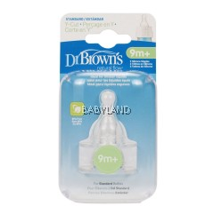 Dr. Brown'S Teat Y Cut 9M+ (2Pcs)