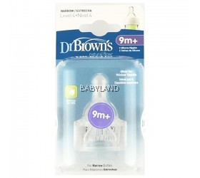 Dr. Brown's Y-Cut Silicone Narrow-Neck Teat - 9M+ (2Pcs)