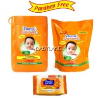 Pureen Fragrance Free 150Wipes + Refill Pack 150Wipes + Free 15Wipes