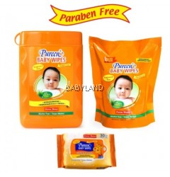 Pureen Fragrance Free 150Wipes + Refill Pack 150Wipes Free 20Wipes