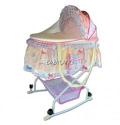B.BEE BASSINET BED PINK