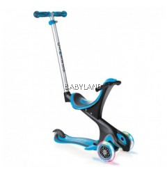 Globber 3 Wheel 5-in-1 Convertible Scooter with LED Light Up Wheels - Sky Blue