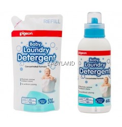 Pigeon Baby Laundry Detergent (600ml + Refill 500ml)