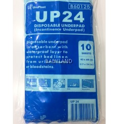 Uroplast UP24 Disposable Underpad (10 Sheets)