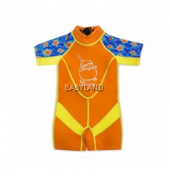 Cheekaboo Kiddies Suit Orange Sea Turtle 4-6y