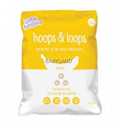 Little Bellies Hoops & Loops Banana Cereal (50g)