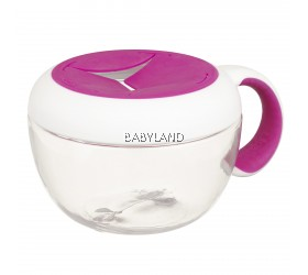 Oxo Tot Flippy Snack Cup With Travel Cover Pink
