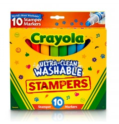 Crayola Ultra-Clean Washable Stamper Markers (10pcs)