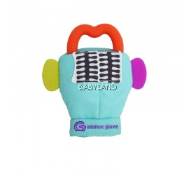 Gummee Glove inc Red Silicone Heart 3m+ (Turquoise)