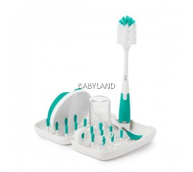 Oxo Tot On-the-Go Drying Rack with Bottle Brush (Teal)