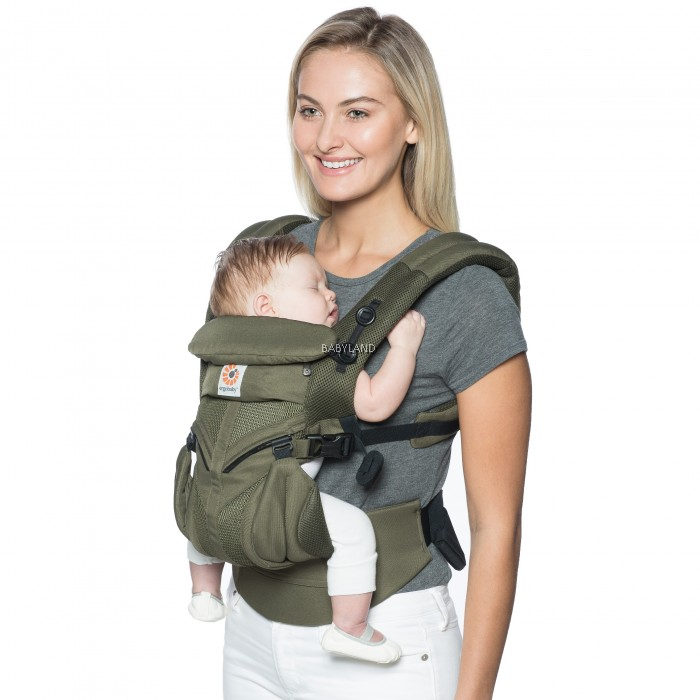 6916ce4bd80 Ergobaby Omni 360 Baby Carrier All-In-One Cool Air Mesh (Khaki Green)