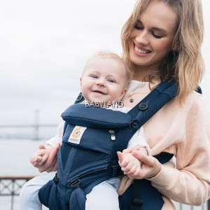 Ergobaby Omni 360 Baby Carrier All-In-One Cool Air Mesh (Midinight Blue)