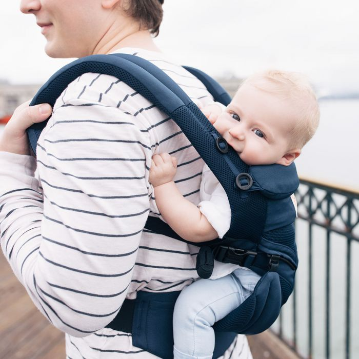 9f95fb8a05b Ergobaby Omni 360 Baby Carrier All-In-One Cool Air Mesh (Midinight Blue)