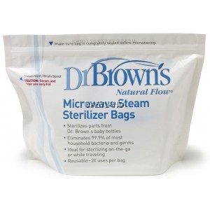Dr. Brown's Microwave Steam Sterilizer Bags (5 bags)