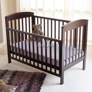 Babyhood 4-in-1 Classic Curve Convertible Cot (English Oak)