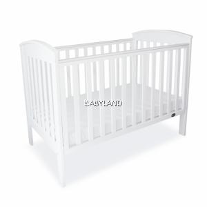 Babyhood 4-in-1 Classic Curve Convertible Cot (White)