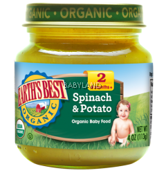Earth's Best Organic Spinach & Potatoes 6M+ (4oz)