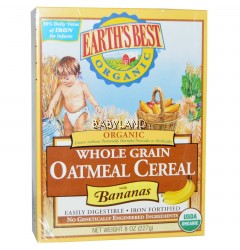 Earth's Best, Organic Whole Grain Oatmeal Cereal with Bananas (227g/8oz)