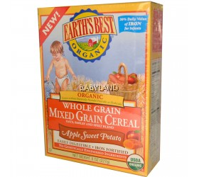 Earth's Best Organic Whole Grain Mixed Grain Cereal Apple Sweet Potato (227g/8oz)