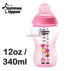 Tommee Tippee Closer To Nature Decorated Bottle Pink (340ml)