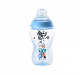 Tommee Tippee Closer To Nature Decorated Bottle Blue (340ml)