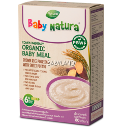 Baby Natura Organic Baby Meal Brown Rice Porridge with Sweet Potato (80g)