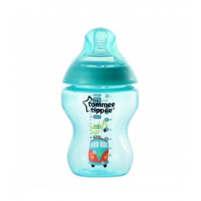 Tommee Tippee Closer To Nature Decorated Bottle Jade Green 260ml