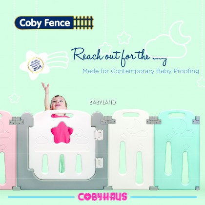 Coby Haus Foldable Fence Starlight 64cm Height 8+2