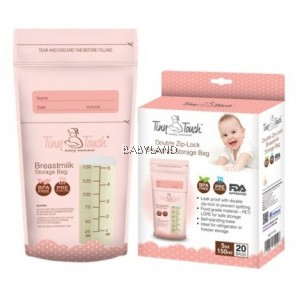 Tiny Touch Double Zip-Lock Breastmilk Storage Bags 20pcs (5oz/150ml) *BUY 2 GET 20% OFF*