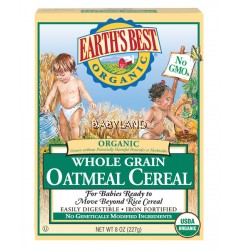 Earth's Best Organic Whole Grain Oatmeal Cereal (227g)