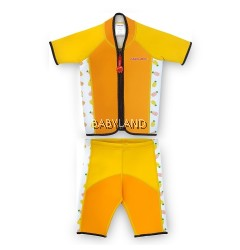 Cheekaaboo Summer Paradise Twinwets Suit - Orange/Pineapple 3-4Y (M)