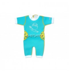 Cheekaaboo Summer Paradise Warmiebabes Suit - Light Blue/Camper Van 3-4Y (M)