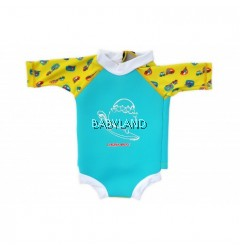 Cheekaaboo Summer Paradise Snugbabes Suit Light Blue/Camper Van 3-4Y (M)