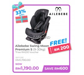 Ailebebe Swing Moon Premium S Car Seat (Carbon Red)