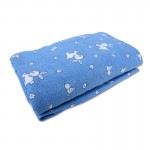 """Bumble Bee Playpen Fitted Sheet Denim Bunny Knit (28""""x41""""x2"""")"""