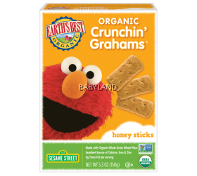 Earth's Best Organic Crunchin' Graham' Honey Sticks (150g)