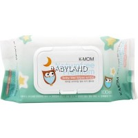 K-Mom Natural Pureness Premium Baby Wet Wipes with Lid (100pcs)