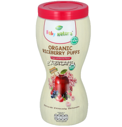 Baby Natura Organic Riceberry Puffs - Apple with Berries Flavour (40g)