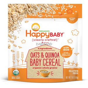 Happy Baby Clearly Crafted Oats & Quinoa Baby Cereal (198g)