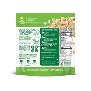 Happy Baby Clearly Crafted Oatmeal Baby Cereal (198g)