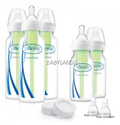 Dr Brown's Natural Flow Options Narrow Newborn Gift Set