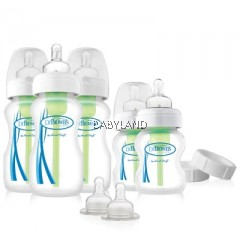 Dr Brown's Natural Flow Options Wide-Neck Newborn Feeding Set