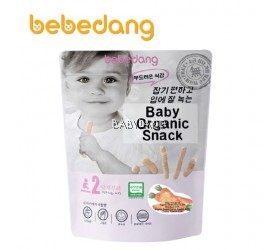 Bebedang Baby Organic Snack - RICE BUD & CARROT & CHEESE 6M+ (30g)