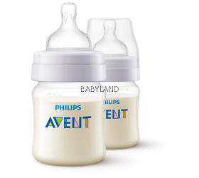 Philips Avent Classic+ Feeding Bottle - 0M+ 125ml/4oz (2 bottles)
