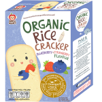 Apple Monkey Organic Rice Cracker Blueberry Strawberry Flavour - 10 sachets (30g)