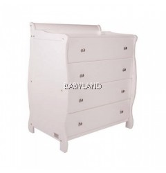 Babyhood Amani Chest & Drawers - WHITE