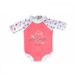 Cheekaaboo Summer Paradise Snugbabes Suit - Salmon Pink/Flamingo 12-18M (M)